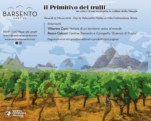 THE PRIMITIVE OF CANTINE BARSENTO TO THE ITALIAN GEOGRAPHIC SOCIETY, BETWEEN CULTURE, INNOVATION, TRADITION