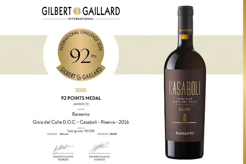 Il nostro Casaboli medaglia d'oro all'International Challenge Gilbert & Gaillard